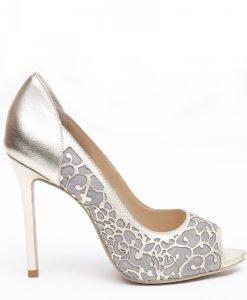 Pantofi din piele naturala Auriu/Argintiu - Incaltaminte - Incaltaminte / Pantofi cu toc