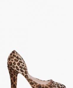 Pantofi leopard din piele de ponei CB051 - Pantofi -
