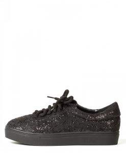 Pantofi negri din dantela lucioasa Negru - Incaltaminte - Incaltaminte / Pantofi sport