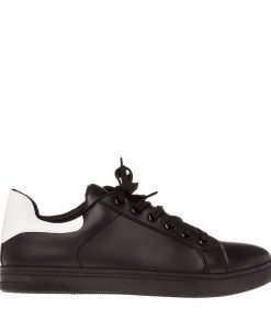 Pantofi sport barbati Duncan negri cu alb - Incaltaminte Barbati - Pantofi Sport Barbati