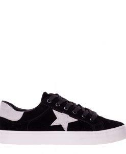 Pantofi sport barbati Heston negri - Incaltaminte Barbati - Pantofi Sport Barbati