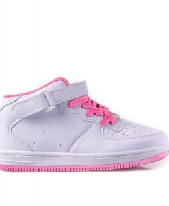 Pantofi sport copii Cindy albi cu roz - Incaltaminte Copii - Pantofi Sport Copii