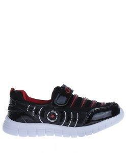 Pantofi sport copii Tedy negri cu rosu - Incaltaminte Copii - Pantofi Sport Copii
