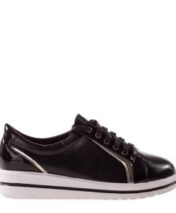 Pantofi sport dama Amber negri - Incaltaminte Dama - Pantofi Sport Dama