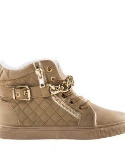 Pantofi sport dama Awwa khaki - Incaltaminte Dama - Pantofi Sport Dama