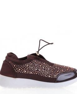 Pantofi sport dama Brenda maro - Incaltaminte Dama - Pantofi Sport Dama