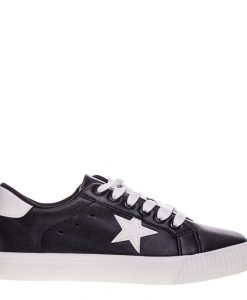 Pantofi sport dama Cadence negri cu alb - Incaltaminte Dama - Pantofi Sport Dama
