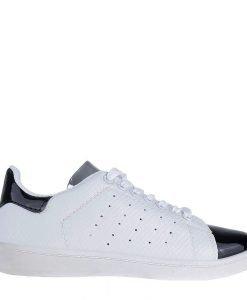 Pantofi sport dama Christy albi cu negru - Incaltaminte Dama - Pantofi Sport Dama