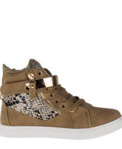 Pantofi sport dama Clain 2 khaki - Incaltaminte Dama - Pantofi Sport Dama