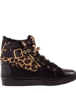 Pantofi sport dama Clain negri - Incaltaminte Dama - Pantofi Sport Dama