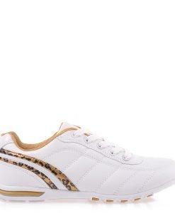 Pantofi sport dama Doriana albi cu auriu - Incaltaminte Dama - Pantofi Sport Dama
