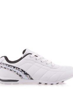 Pantofi sport dama Doriana albi cu negru - Incaltaminte Dama - Pantofi Sport Dama