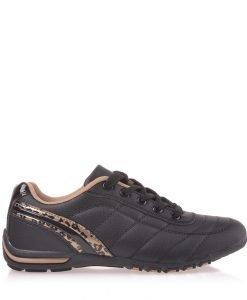 Pantofi sport dama Doriana negri cu camel - Incaltaminte Dama - Pantofi Sport Dama