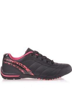Pantofi sport dama Doriana negri cu roz - Incaltaminte Dama - Pantofi Sport Dama