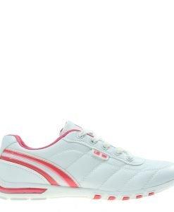 Pantofi sport dama Ethel albi cu corai - Incaltaminte Dama - Pantofi Sport Dama
