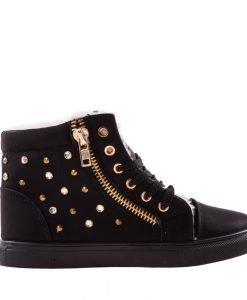 Pantofi sport dama Flufy negri - Incaltaminte Dama - Pantofi Sport Dama