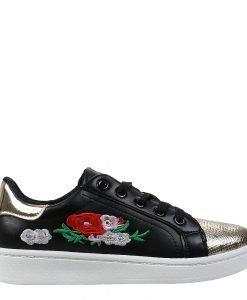 Pantofi sport dama Fresno negri - Incaltaminte Dama - Pantofi Sport Dama