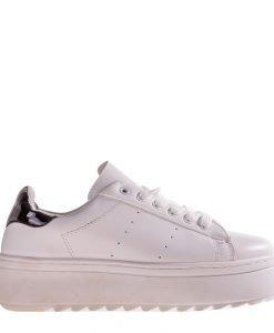 Pantofi sport dama Garvey albi cu negru - Incaltaminte Dama - Pantofi Sport Dama