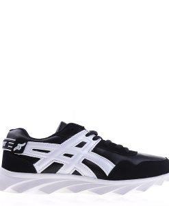 Pantofi sport unisex B92 negri cu alb - Incaltaminte Barbati - Pantofi Sport Barbati