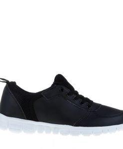 Pantofi sport unisex F308 negri cu alb - Incaltaminte Barbati - Pantofi Sport Barbati
