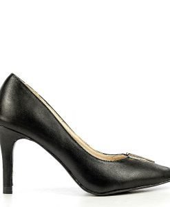 Pantofi stiletto dama Nuria negri - Promotii - Lichidare Stoc