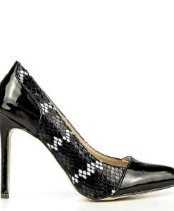 Pantofi stiletto dama Oriana negri - Promotii - Lichidare Stoc