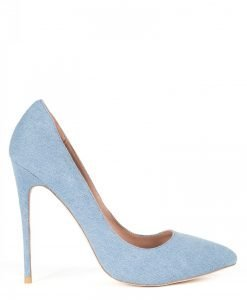 Pantofi stiletto din denim Albastru - Incaltaminte - Incaltaminte / Pantofi cu toc