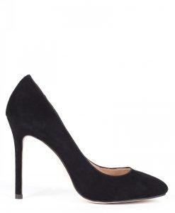 Pantofi stiletto din piele naturala Negru - Incaltaminte - Incaltaminte / Pantofi cu toc