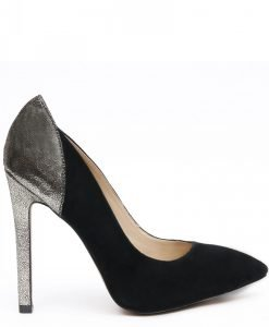 Pantofi stiletto din piele naturala Negru/Auriu - Incaltaminte - Incaltaminte / Pantofi cu toc