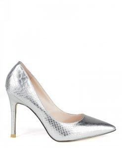 Pantofii stiletto argintii Argintiu - Incaltaminte - Incaltaminte / Pantofi cu toc