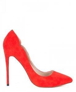 Pantofii stiletto din piele naturala Rosu - Incaltaminte - Incaltaminte / Pantofi cu toc