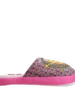 Papuci copii Minions gri cu fucsia - Incaltaminte Copii - Papuci copii