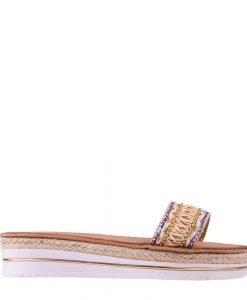 Papuci dama Alvarez bej - Incaltaminte Dama - Papuci Dama
