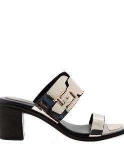 Papuci dama Chloe aurii - Incaltaminte Dama - Papuci Dama