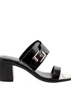 Papuci dama Chloe negri - Incaltaminte Dama - Papuci Dama