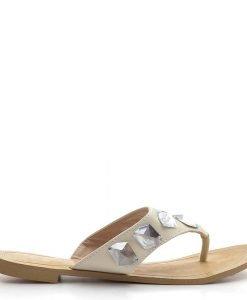 Papuci dama Liana 2 crem - Promotii - Lichidare Stoc