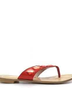 Papuci dama Liana 2 rosii - Promotii - Lichidare Stoc