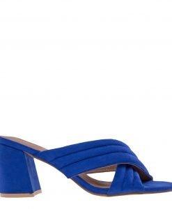Papuci dama Rebecca albastri - Incaltaminte Dama - Papuci Dama