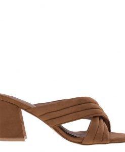 Papuci dama Rebecca camel - Incaltaminte Dama - Papuci Dama