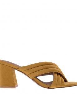 Papuci dama Rebecca galbeni - Incaltaminte Dama - Papuci Dama