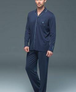 Pijama barbateasca Lion Navy - modal - Lenjerie pentru barbati - Pijamale