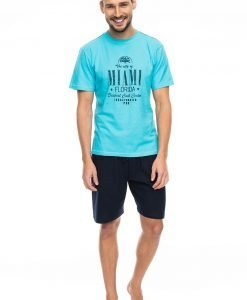 Pijama barbateasca Miami blue - Lenjerie pentru barbati - Pijamale