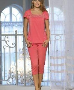 Pijama dama Delfina Coral - Lenjerie pentru femei - Pijamale dama