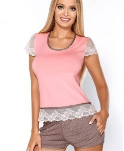 Pijama dama Roxy Pink - Lenjerie pentru femei - Pijamale dama