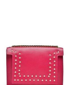 Poseta mica din piele naturala cu aplicatii perle LAURENPERLE rosu - Posete de ocazie -