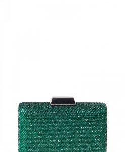 Poseta rafinata din cristale verzi Verde - Genti - Genti / Clutch-uri