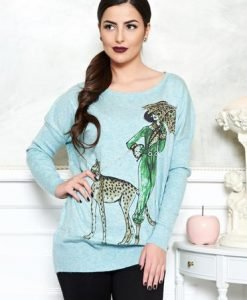 Pulover Fierce Fashionista LightBlue - Pulovere -