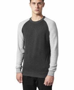 Pulover Inside Out gri carbune-gri Urban Classics - Bluze cu guler rotund - Urban Classics>Barbati>Bluze cu guler rotund