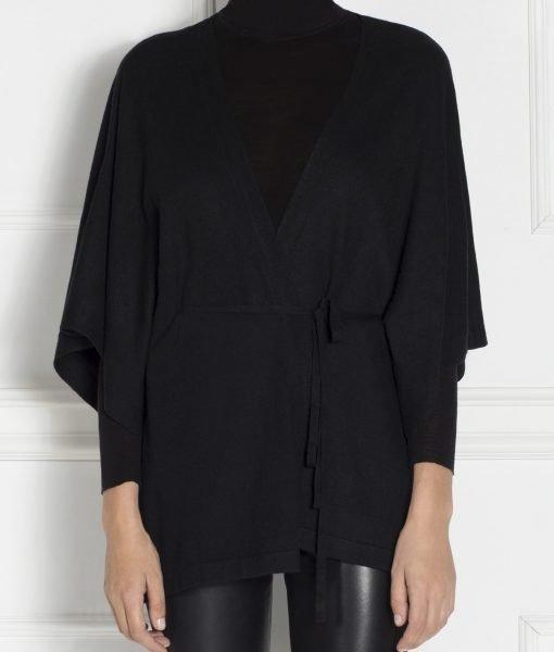 Pulover cu cordon in talie Negru – Imbracaminte – Imbracaminte / Topuri