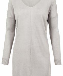Pulover lejer tricot fin cu decolteu in V pentru Femei gri Urban Classics - Femei - Urban Classics>Colectie noua>Femei
